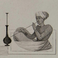 Image of a water pipe smoker