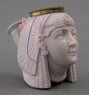 Egyptian portrait in parian ware
