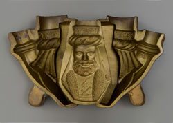 A press mould of a man with a turban