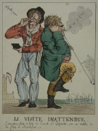 Cartoon with smoker and snuff taker