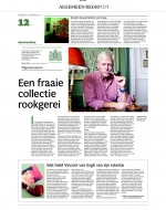 Full newspaper page for the Amsterdam Pipe Museum
