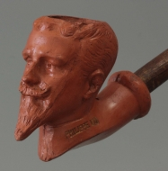 Portrait pipe of Philippe VIII