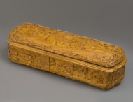 Carved box for pipe tobacco