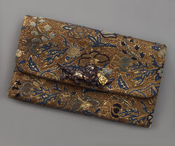 A brocade tobacco bag