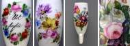 Exhibition dedicated to flowers on tobacco pipes