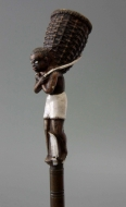 Negro with carrying basket